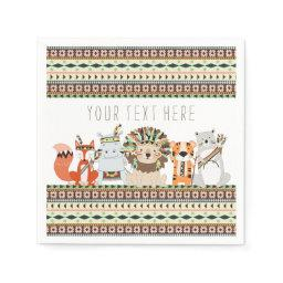 Tribal Animal  Paper Napkin