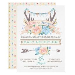 Tribal Antler Gender Reveal Baby Shower