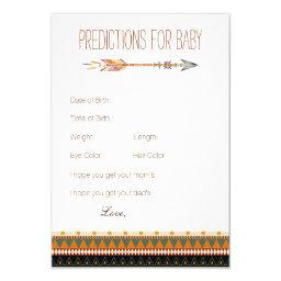 Tribal Arrow Predictions Advice Cards Baby Shower