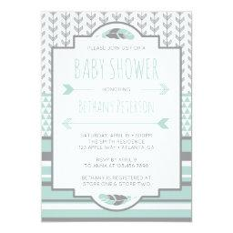 Tribal Baby Shower Invitation, Aztec, Arrows, BOHO