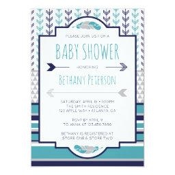 Tribal  Invitation, Aztec, Arrows, BOHO