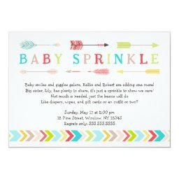 Tribal Baby Sprinkle neutral gender shower invites