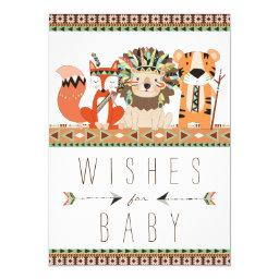 Tribal Wishes for Baby Fox Lion Tiger