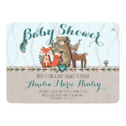 Tribal Woodland Creatures Baby Shower