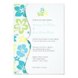 Tropical HibiscusWedding or  Invites