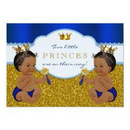 Twin African American Prince Baby Shower