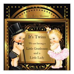 Twin  Boy and Girl Gold Blonde