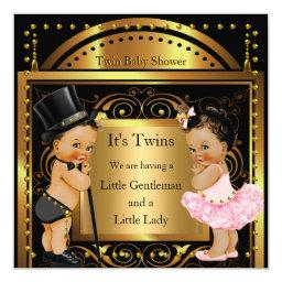 Twin  Boy and Girl Gold Brunette
