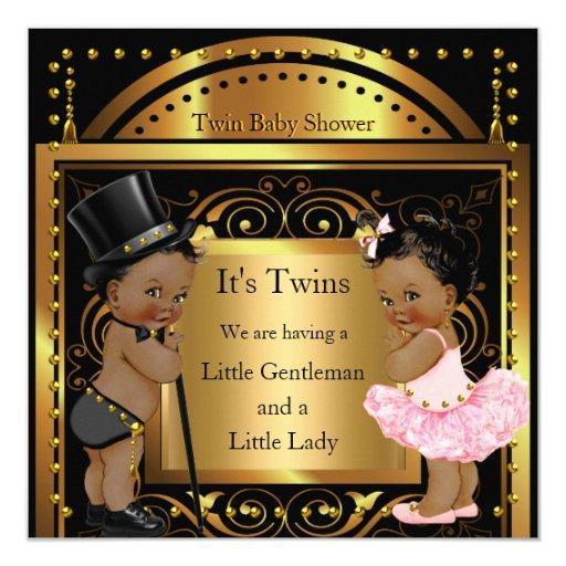 Twin  Boy and Girl Gold Ethnic