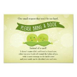 Twin Baby shower Bring a book Two Peas in a pod