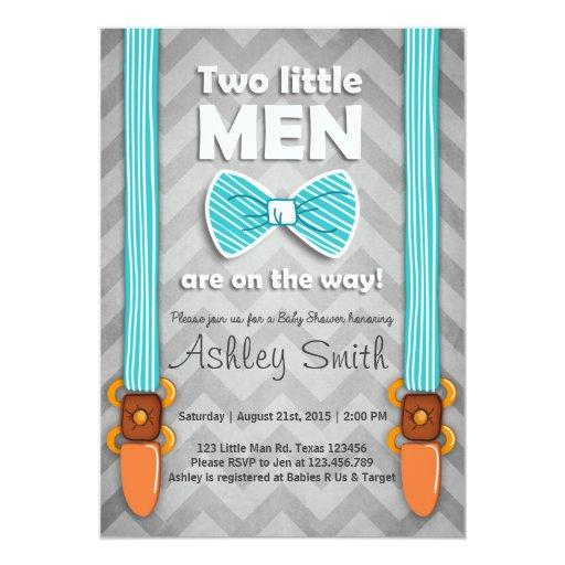 Twin  invite Twins Little Men Bow tie