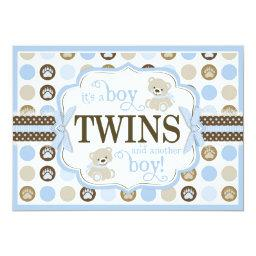 Twin Boys Teddy Bear  Blue