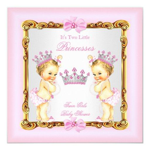 Twin Girls Princess  Gold Pink Blonde