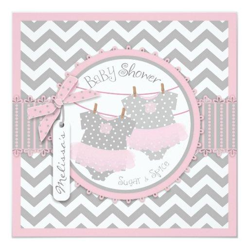 Twin Girls Tutus Chevron Print