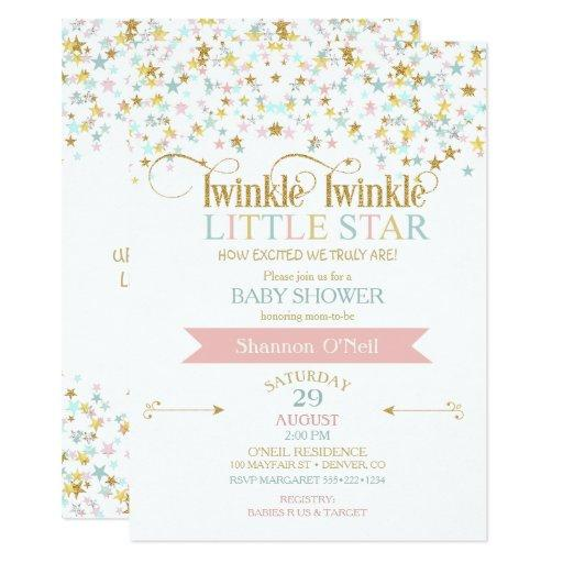 baby shower twinkle little star baby shower any color card