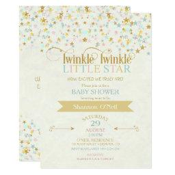 Twinkle Little Star  Gold Aqua