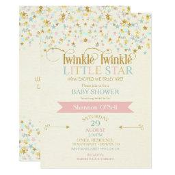 Twinkle Little Star  Gold Aqua Pink