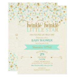 Twinkle Little Star  Gold & Mint