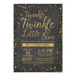 Twinkle Little Star Chalkboard  Invites