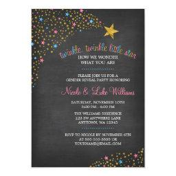 Twinkle Little Star Chalkboard Gender Reveal Party