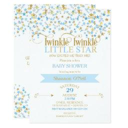 Twinkle Little Star Gold & Baby Blue