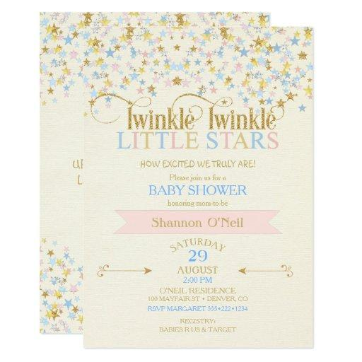 Twinkle Little Star Twins  Pink & Blue