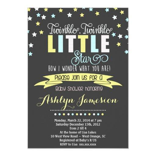 baby shower twinkle twinkle little star baby shower invitation