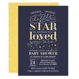 Twinkle Twinkle Star Theme Navy Baby Shower