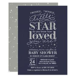 Twinkle Twinkle Star Theme Navy Silver Shower