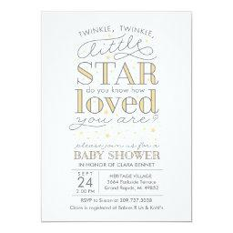 Twinkle Twinkle Star Theme Yellow Baby Shower