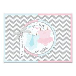Twins Tie Tutu Chevron Baby Shower