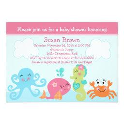 Under the Sea life/Girl Baby Shower