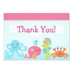 Under the Sea life/Girl Baby Shower Thank You