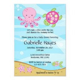 Under the Sea Pink Baby Shower