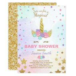 Unicorn Baby Shower  Pink Gold Magical