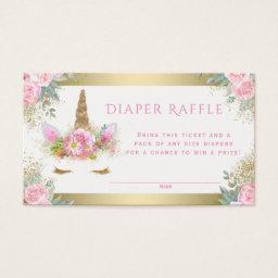Unicorn Face Diaper Raffle Tickets