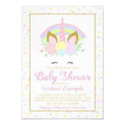 Unicorn Rainbow Baby Girl Shower