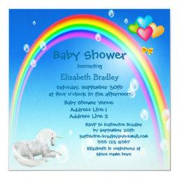 Unicorn, Rainbow & Bubbles Baby Shower