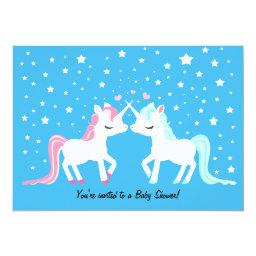 Unicorns in love baby shower