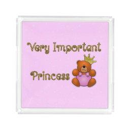 Very Important Princess acrylic perfume tray