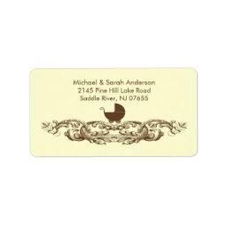 Vintage Baby Carriage  Address Label