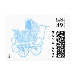 Vintage Blue Baby Carriage  Postage