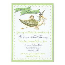 Vintage Storybook Stork Baby Shower
