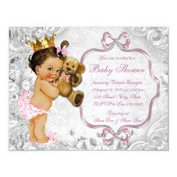 Vintage Teddy Bear Ethnic Baby Girl Shower