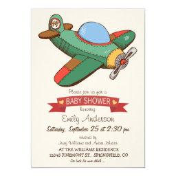 Vintage Toy Airplane Baby Shower