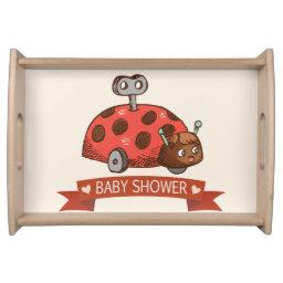 Vintage Toy Ladybug Baby Shower Serving Tray