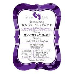 Violet Purple Camo, Camouflage Baby Shower