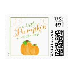Watercolor Little Pumpkin Fall  Postage