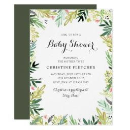 Watercolor Meadow Baby Shower