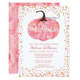 Watercolor Pumpkin Confetti Fall Girl